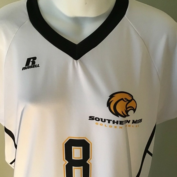pretty nice 7ef90 ed19e Russell Southern Miss Golden Eagles Dri-Fit Jersey NWT